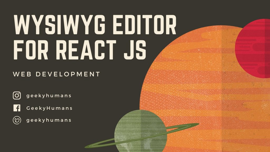 WYSIWYG-editor-for-react-js